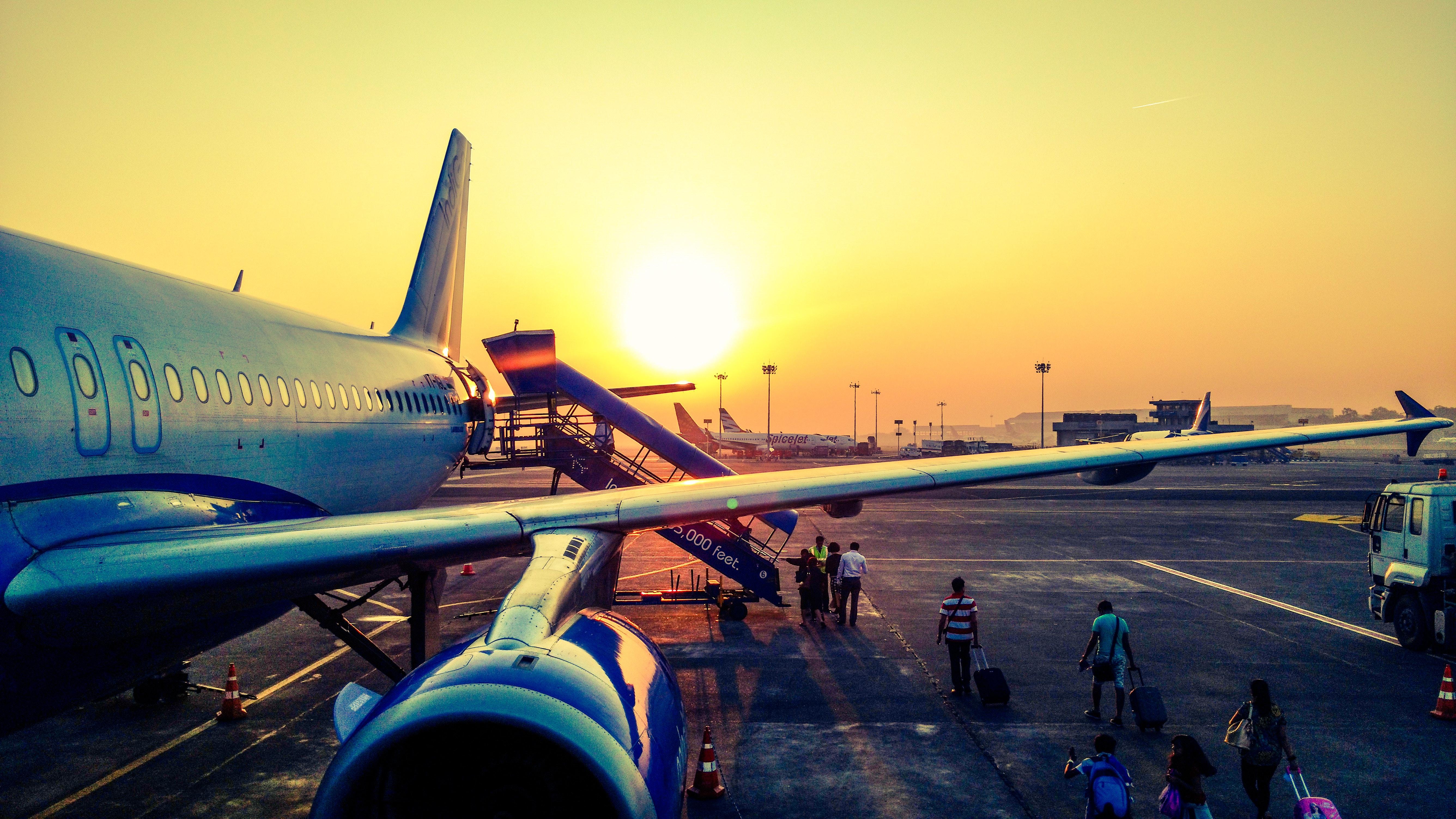 Påstigning til et fly.